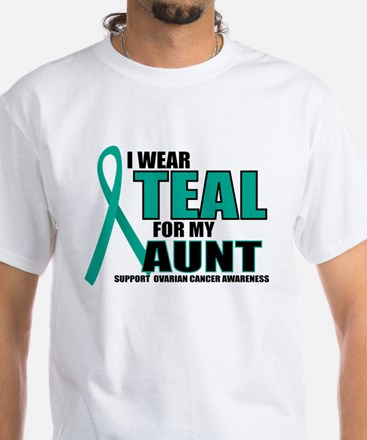 OC: Teal For Aunt White T-Shirt