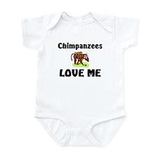 Chimpanzees Love Me Infant Bodysuit