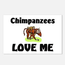Chimpanzees Love Me Postcards (Package of 8)