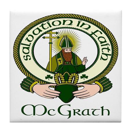 McGrath Clan Motto Tile Coaster