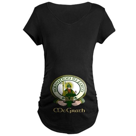 McGrath Clan Motto Maternity Dark T-Shirt