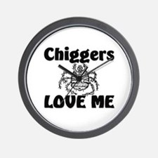 Chiggers Love Me Wall Clock