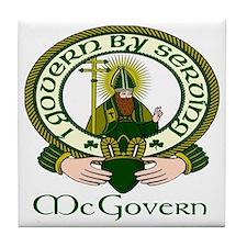 McGovern Clan Motto Tile Coaster