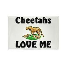 Cheetahs Love Me Rectangle Magnet