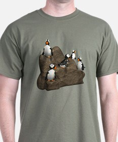 Penguins on Rock T-Shirt