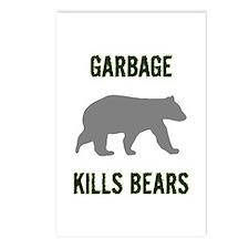 Garbage Kills Bears Postcards (Package of 8)