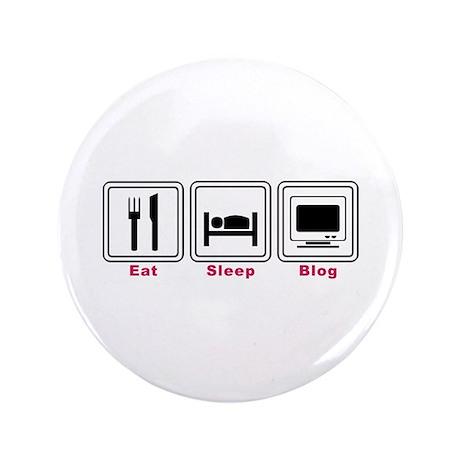 """Eat Sleep Blog 3.5"""" Button (100 pack)"""
