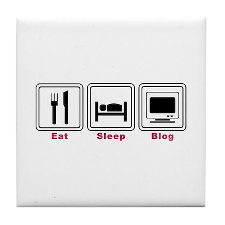 Eat Sleep Blog Tile Coaster