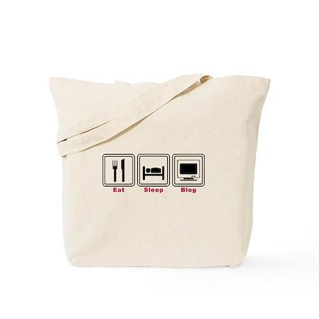 Eat Sleep Blog Tote Bag