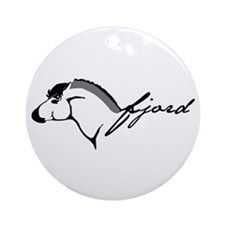 Fjord Horse Ornament (Round)