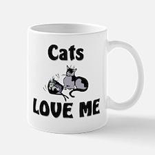 Cats Love Me Mug