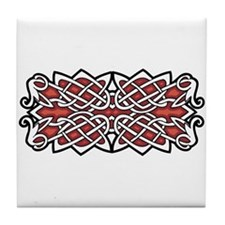 CELTIC53_RED Tile Coaster
