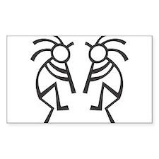 kokopelli Rectangle Bumper Stickers