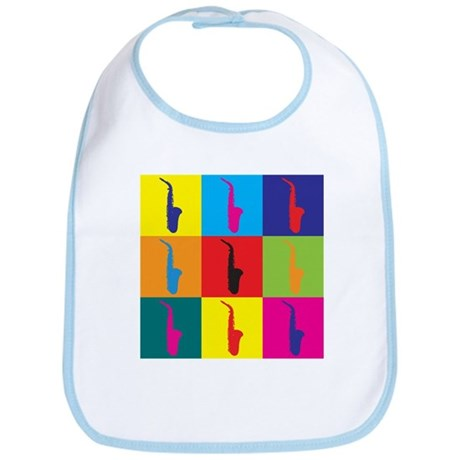 Saxophone Pop Art Bib