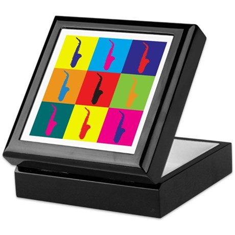 Saxophone Pop Art Keepsake Box