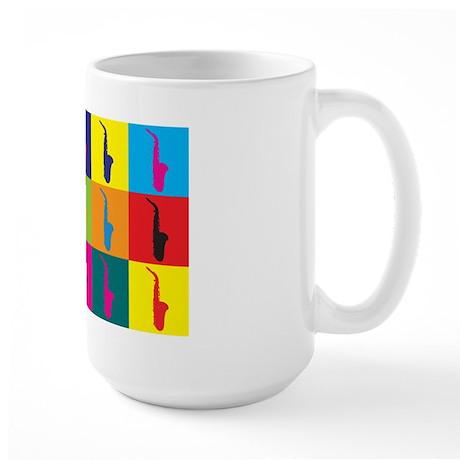 Saxophone Pop Art Large Mug
