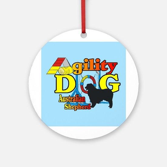 Australian Shepherd Agility Round Ornament