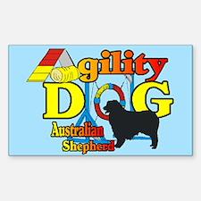 Australian Shepherd Agility Rectangle Sticker 10