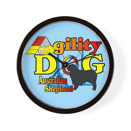 Australian Shepherd Agility Wall Clock