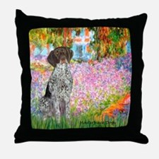 Garden/German Pointer Throw Pillow