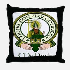 McDade Clan Motto Throw Pillow