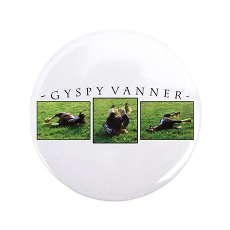 """Gypsy Vanner Horse 3.5"""" Button (100 pack)"""