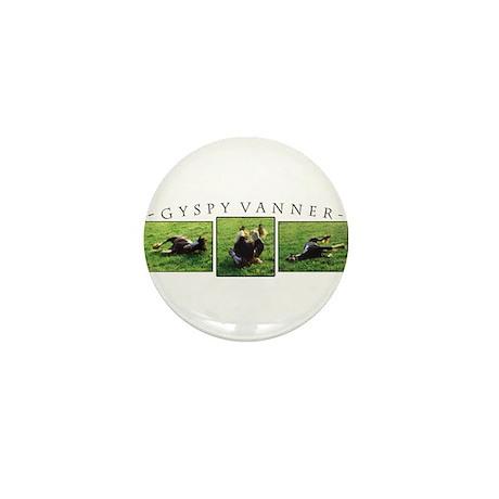 Gypsy Vanner Horse Mini Button