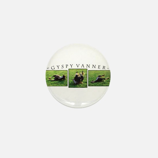 Gypsy Vanner Horse Mini Button