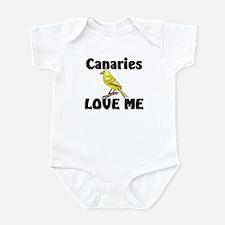 Canaries Love Me Infant Bodysuit