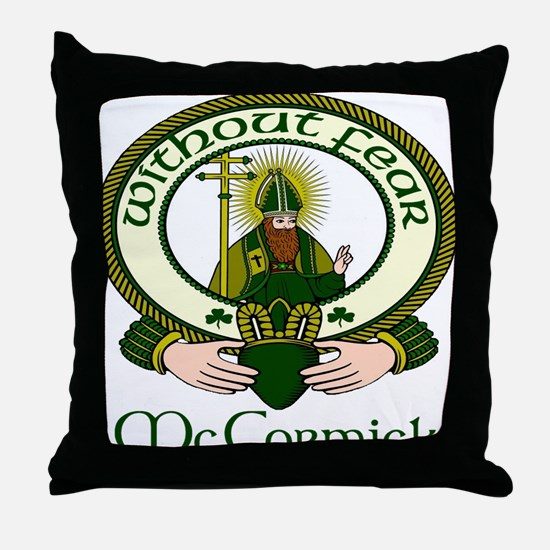 McCormick Clan Motto Throw Pillow
