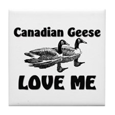 Canadian Geese Love Me Tile Coaster