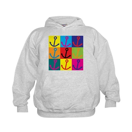 Running a Ship Pop Art Kids Hoodie