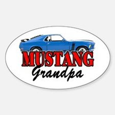 MUSTANG GRANDPA Oval Decal