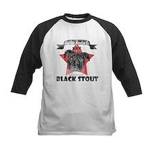 Black Stout Kids Baseball Jersey