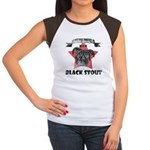 Black Stout Women's Cap Sleeve T-Shirt