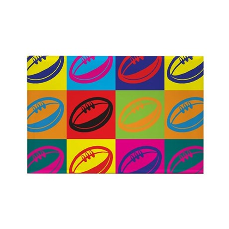 Rugby Pop Art Rectangle Magnet (10 pack)