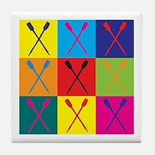 Rowing Pop Art Tile Coaster