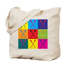 Rowing Pop Art Tote Bag