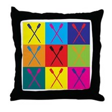 Rowing Pop Art Throw Pillow