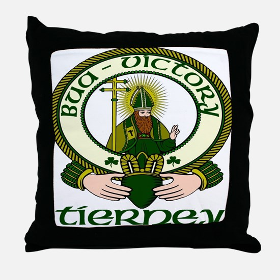 Tierney Clan Motto Throw Pillow