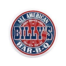 "Billy's All American Bar-b-q 3.5"" Button"