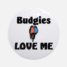 Budgies Love Me Ornament (Round)