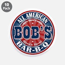 "Bob's All American BBQ 3.5"" Button (10 pack)"