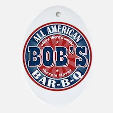 Bob's All American BBQ Oval Ornament