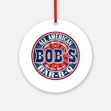 Bob's All American BBQ Ornament (Round)