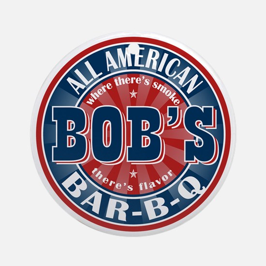 Bob's All American BBQ Ornament (Round)
