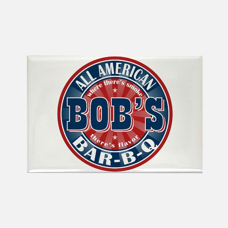 Bob's All American BBQ Rectangle Magnet