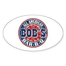 Bob's All American BBQ Oval Decal
