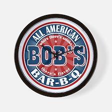 Bob's All American BBQ Wall Clock