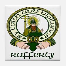 Rafferty Clan Motto Tile Coaster